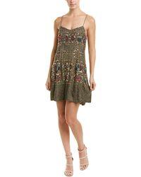 Raga Smoke Pine Mini Dress - Green