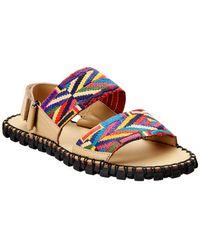 Valentino Leather Sandal - Brown