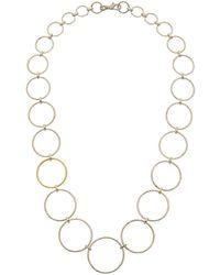 Gurhan - Geo 24k Yellow Gold & Silver Hoop Necklace - Lyst
