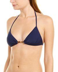 MILLY Cabana Positano Bikini Top - Blue