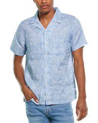 Onia Camp Pocket Linen Shirt - Blue