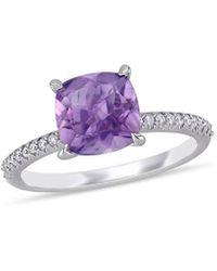 Rina Limor 14k 1.86 Ct. Tw. Diamond & Amethyst Engagement Ring - Purple