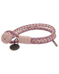 Bottega Veneta Intrecciato Nappa Leather Bracelet - Multicolour