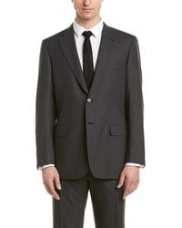 Brioni 2pc Wool Suit With Flat Front Pant - Multicolour