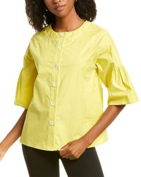 Piazza Sempione Bell-sleeve Top - Yellow