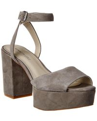 Kenneth Cole Phoenix Suede Platform Sandal - Brown