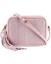 Gigi New York Madison Leather Crossbody - Pink