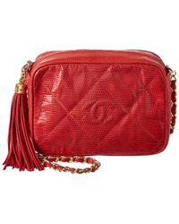 515a1189a9cc Chanel - Limited Edition Red Lizard Leather Small Camera Bag - Lyst