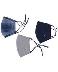 Tailor Vintage 3 Pack Puretec Cool Performance Mask - Blue