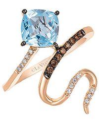 Le Vian ? 14k Rose Gold 1.31 Ct. Tw. Diamond & Aquamarine Ring - Metallic