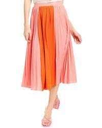 Lucy Paris Janessa Midi Skirt - Pink