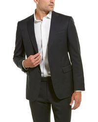 Z Zegna - Wool Suit With Flat Front Pant - Lyst