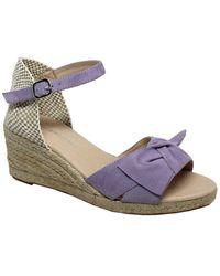 Eric Michael Gwenith Leather Wedge Sandal - Purple