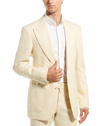 Tom Ford Shelton Linen Jacket - Yellow