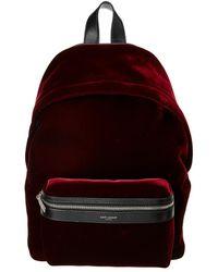 Saint Laurent - Velvet Backpack - Lyst