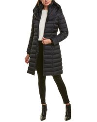 Laundry by Shelli Segal Fitted Puffer Coat - Black