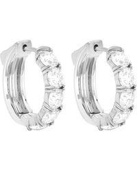 Diana M. Jewels . Fine Jewelry 18k 1.00 Ct. Tw. Diamond Huggie Earrings - Metallic