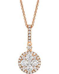 Le Vian - ® 14k Rose Gold 0.68 Ct. Tw. Diamond Necklace - Lyst