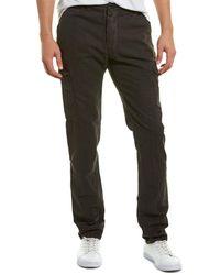 James Perse Garment Dyed Linen-blend Utility Pant - Black