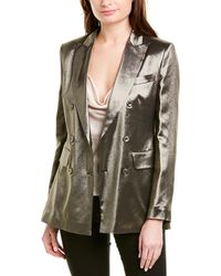 Max Mara Silk-blend Jacket - Metallic
