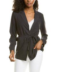 Go> By Go Silk Go>silk Coat Of Many Colours Silk Jacket - Black