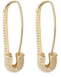 Gabi Rielle Gold Over Silver Cz Earrings - Metallic