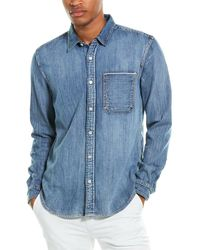 7 For All Mankind 7 For All Mankind Selvedge Shirt - Blue