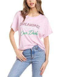 Wildfox Foods Over Dudes T-shirt - Pink