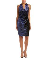 T Tahari - Faux Wrap Dress - Lyst