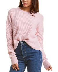 Autumn Cashmere Pearl Cashmere Jumper - Pink