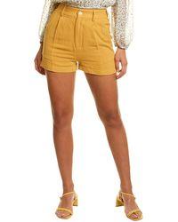 Walter Baker Jasmine Linen-blend Short - Yellow