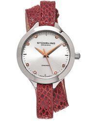 Stuhrling Original Vogue Diamond Watch - Metallic