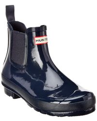 HUNTER Women's Original Chelsea Gloss Boot - Blue