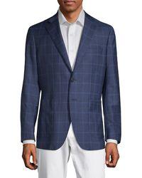 Saks Fifth Avenue - Checkered Notch Lapel Jacket - Lyst