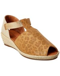 Gentle Souls Luci T-strap Suede Sandal - Brown