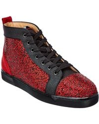 Christian Louboutin Louis Orlato Suede Trainer - Red