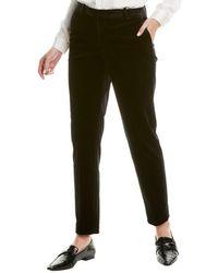 Theory Tailored Velvet Trouser - Black