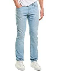 J Brand Tyler Schicata Linen-blend Slim Leg - Blue