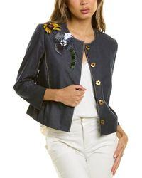 Carolina Herrera Embroidered Jacket - Blue