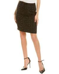 Tahari Tweed Pencil Skirt - Black