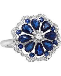 Diana M. Jewels - . Fine Jewelry 14k 2.08 Ct. Tw. Diamond & Blue Sapphire Ring - Lyst