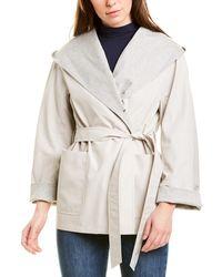 Cinzia Rocca Short Trench Coat - Grey