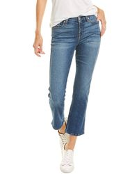 7 For All Mankind 7 For All Mankind Kimmie Bayview Crop Jean - Blue