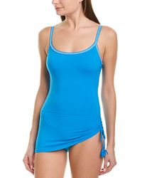 Johnny Was Denise Skirted Tank Suit - Blue