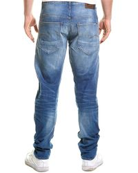 G-Star RAW Raw Arc 3d Medium Aged Ripped Relaxed Tapered Leg Jean - Blue