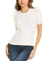 Laundry by Shelli Segal Short-sleeve Jumper - White