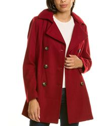 Nautica Double-breasted Wool-blend Peacoat - Red
