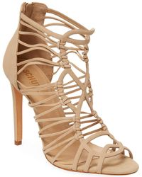 Schutz - Leather Stiletto Sandal - Lyst