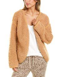 Monrow Cozy Wool-blend Cardigan - Brown