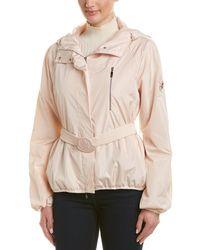 Moncler Silk-lined Short Rain Jacket - Multicolour